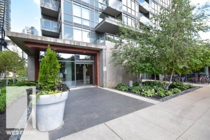 Ground Floor Entrance To The WestOne Condominiums at 11 Brunel Court.