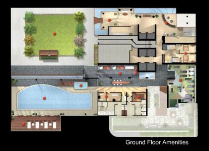 Ground Floor - Amenities Floor Plan.