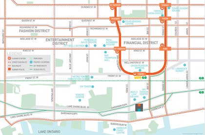 Take The P.A.T.H. SkyBridge Towards Maple Leaf Square, Longo's Grocery Store, Union Station & The P.A.T.H. Underground Network - 2nd Floor Access.