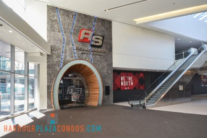 2nd Floor Skybridge Access To Maple Leaf Square Mall - Real Sports Bar & Grill.