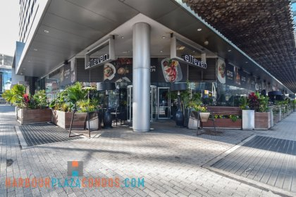 2nd Floor Skybridge Access To Maple Leaf Square Mall - E11even Fine Dining Restaurant.