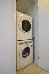 Ensuite Stacked Washer/Dryer.