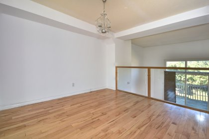 Open Concept Dining Area With Hardwood Flooring.