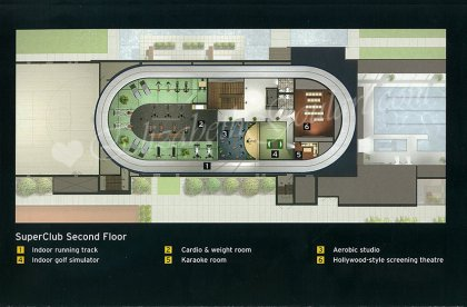 "The ""SuperClub"" Second Floor Amenities - Floor Plan."