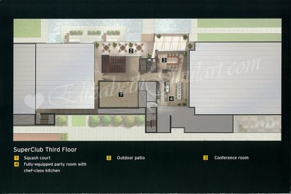 "The ""SuperClub"" Third Floor Amenities - Floor Plan."