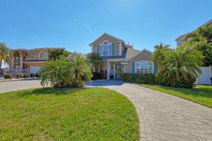 This waterfront home & neighboring million dollar homes is on a quiet cul-de-sac in exclusive Belleair Beach.