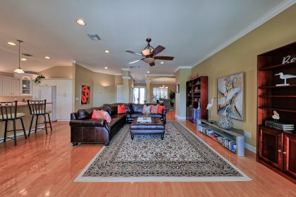 This one has a perfect floor plan for large family comfort and for entertaining guests.