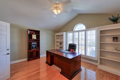 Bonus room off the upstairs master is a great flex space for an office or gym.