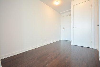 Study Area With Hardwood Flooring.