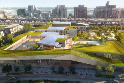 The Brand New Canoe Landing Centre Featuring A Toronto District & Catholic District Elementary Schools, Child Care And Community Centre.