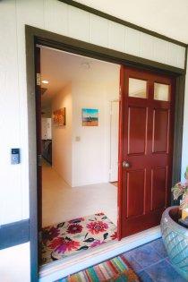 Solid wood doors.
