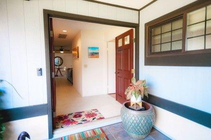 Wide double door entrance.