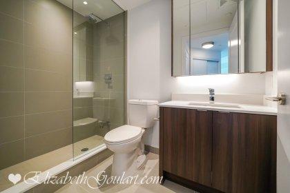 Main Bath With A 3-Piece & A Frameless Glass Stand-Up Shower.