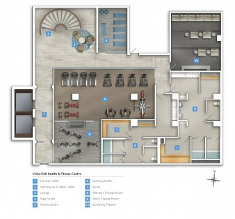 VistaClub Health & Fitness Centre - P1 Level.