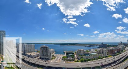 WestOne - Access To The 27th Floor Sky Lounge Spa Oasis Overlooking Toronto's Harbourfront & Island Airport at 11 Brunel Court.