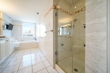 7-Piece Ensuite Including Double Sinks, Separate Sauna & Steam Rooms, Bidet, Stand-Up Shower With Multi Jets & A Jacuzzi Soaker Tub W/CN Tower Views.