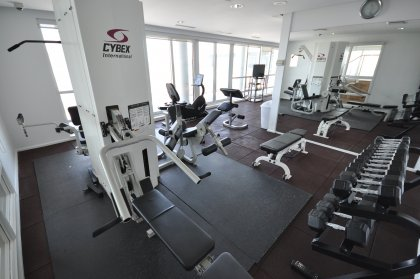 The Exclusive Roof Top Gym & Fitness Area.