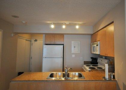 Upgraded Track Lighting, Granite Counter Tops & Moen Kitchen Faucet.