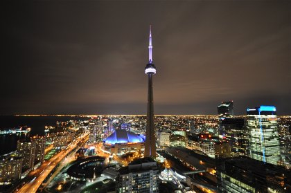 Absolutely Spectacular & Unobstructed Panoramic Views Of Toronto's Harbourfront, Lake Ontario, The City Island Airport, CN Tower & Rogers Centre.