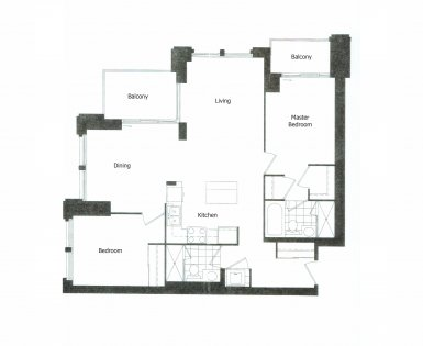 Split Bedroom Floor Plan With A 9Ft. Ceiling & 2 Private Balconies Facing Spectacular Unobstructed South-West Lake Views.