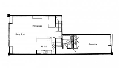 Spacious & Private Split Level Floor Plan.