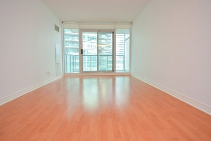 Bright & Spacious Floor-To-Ceiling Windows With Laminate Flooring And Private Walk-Out Balcony.