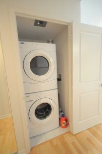 Upgraded Stacked Washer/Dryer.