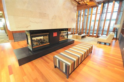 2nd Floor Amenities Lounge Area With Fireplace & Library.
