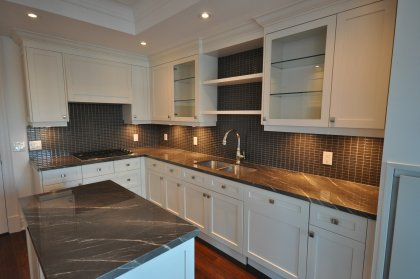Gorgeous Designer Kitchen Cabinetry, Coffered Ceilings, Pot Lights & Fitted With The Latest In Cutting Edge Designed Sub-Zero, Wolf & Miele Appliances