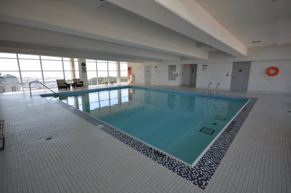 11th Floor Harbour Club Amenities. Indoor Pool With Jacuzzi Overlooking Lake And Park Views.