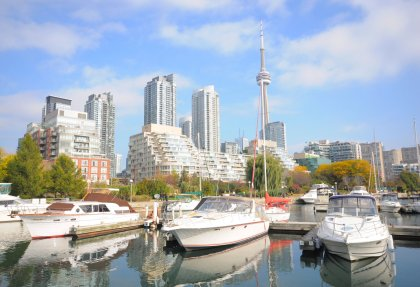 Steps To Marina's, Music Garden, Restaurants, Cafes & Toronto's C.N. Tower.