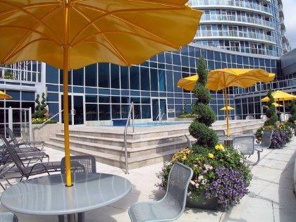 2nd Floor - WaterClub Outdoor Tanning Deck Onlooking The Lake.