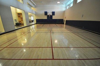Indoor Basketball Court.