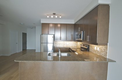 Designer Kitchen Cabinetry With Stainless Steel Appliances, Granite Counter Tops, Undermount Sink & Valance Lighting.