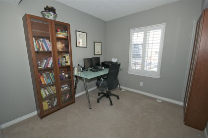 Bright & Spacious Sized 2nd Bedroom With Designer Paint Colours, California Shutters & A Closet.