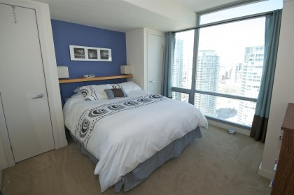 Spacious Sized Master Bedroom Facing Unobstructed North City Views.