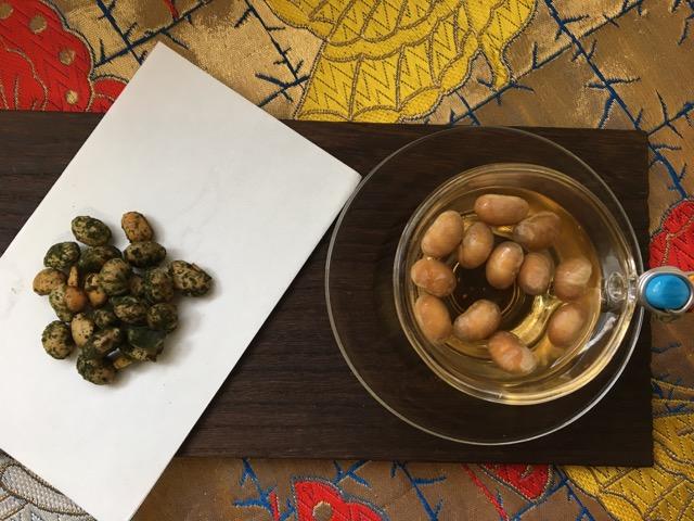 節分の豆と青汁で和スイーツ