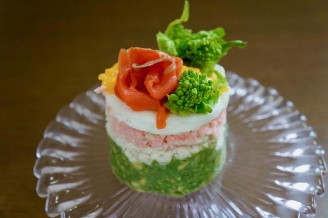 ごはん抜きで春色ちらし寿司