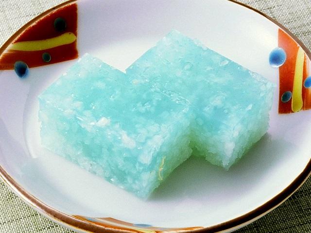 道明寺羹・ペパーミント風味