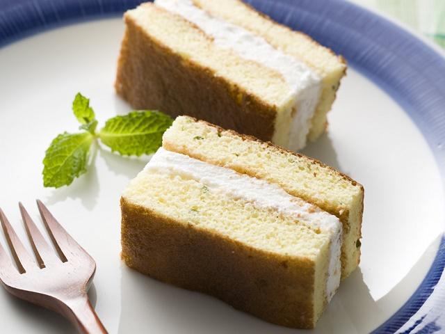 ミントケーキのチーズクリームサンド