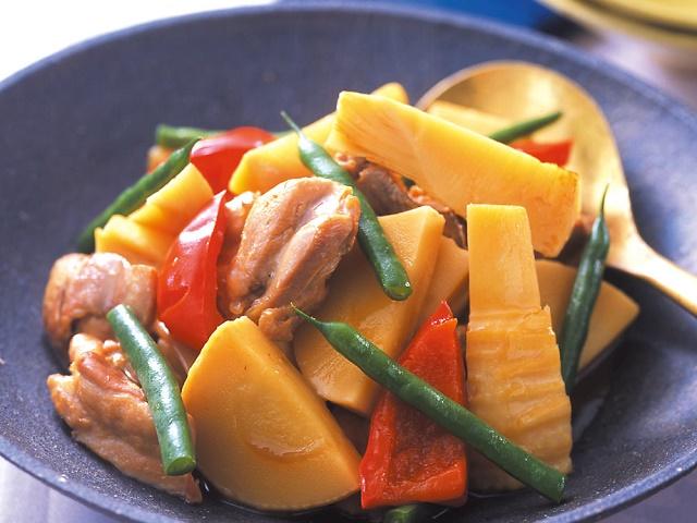 たけのこと鶏肉の中華風うま煮