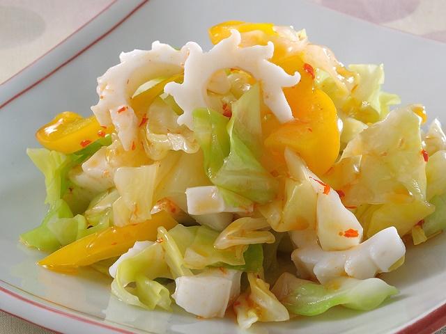 いかとキャベツの中華風サラダ