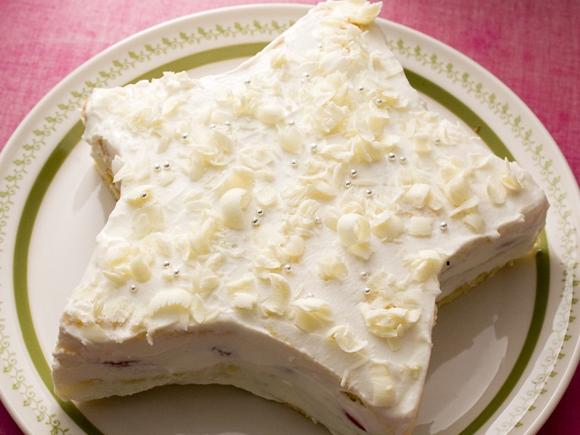星型のイチゴショートケーキ