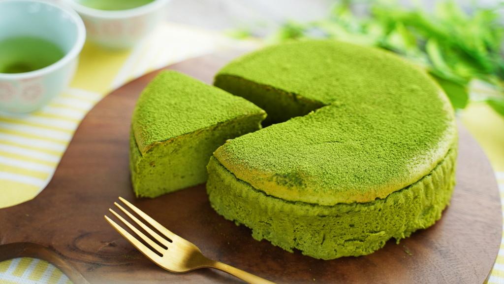 静岡の抹茶スフレチーズケーキ