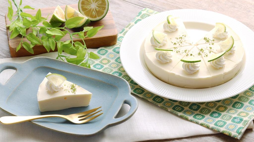 かぼすのクリームチーズケーキ