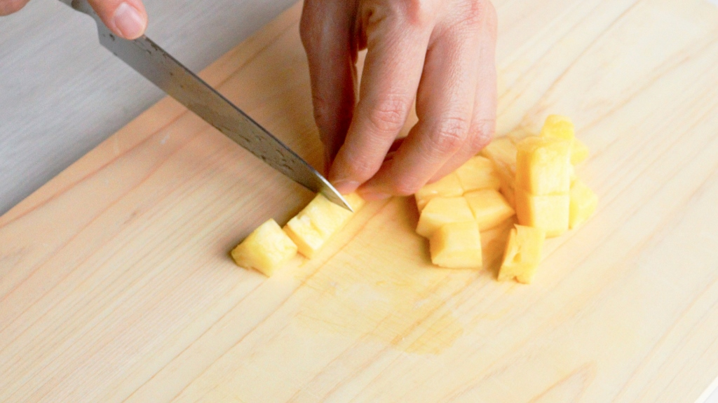 パイナップルのアイスキューブ
