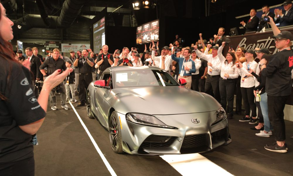 First Production 2020 Toyota GR Supra Goes for $2.1 Million at Barrett-Jackson Scottsdale Auction