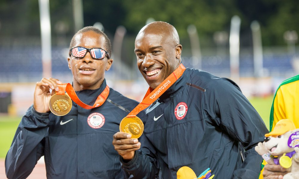 Team Toyota Summer Athletes David Brown and guide runner Jerome Avery