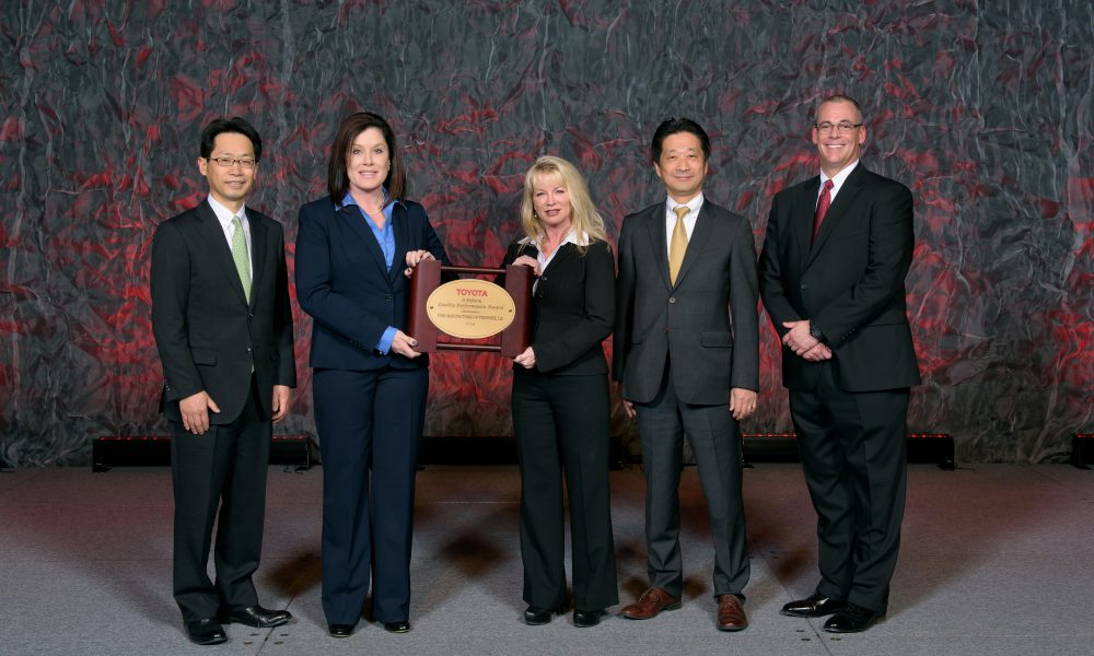 Three Toyota Suppliers Receive Superior Quality Performance Award for 2014