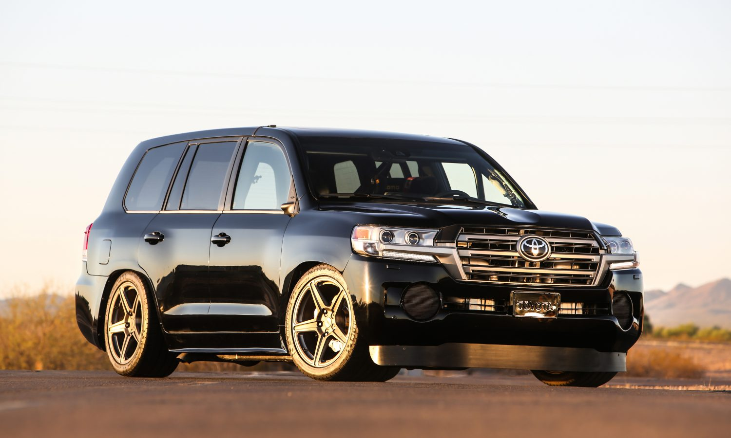 Toyota Rocks SEMA with 220 MPH Twin Turbo Land Speed Cruiser